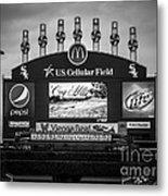 Comiskey Park U.s. Cellular Field Scoreboard In Chicago Metal Print by Paul Velgos