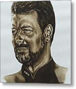 commander William Riker Star Trek TNG Metal Print by Giulia Riva
