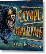 Complaint Department Metal Print by JQ Licensing