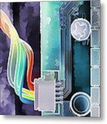 Computing Metal Print by Steve Ohlsen