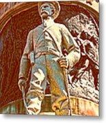 Confederate Soldier Statue I Alabama State Capitol Metal Print by Lesa Fine