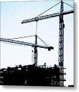 Construction Cranes Metal Print by Antony McAulay