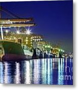 Container Cargo Freight Ship Metal Print by Anek Suwannaphoom