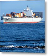 Container Ship Metal Print by Olivier Le Queinec