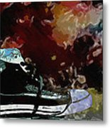Converse Sports Shoes Metal Print by Toppart Sweden