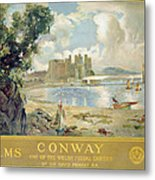 Conway Castle Metal Print by Sir David Murray