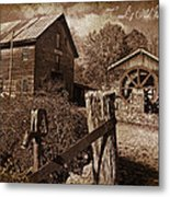 Cook's Old Mill 1857 Metal Print by Regina  Williams