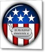 Cool Army Insignia Metal Print by Pamela Johnson