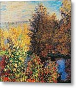 Corner Of Garden In Montgeron Metal Print by Claude Monet