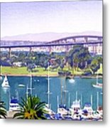 Coronado Bay Bridge Metal Print by Mary Helmreich