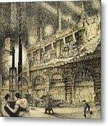 Coronation Evening London 1937 Metal Print by Jack Coburn Witherop