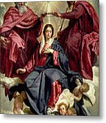 Coronation Of The Virgin Metal Print by Diego Velazquez