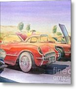 Corvette Show Metal Print by Robert Hooper