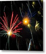 Cosmos Fireworks Metal Print by Inge Johnsson