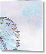 Cotton Candy Ferris Wheel Metal Print by Kay Pickens