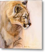 Cougar On The Prowl Metal Print by Bonnie Rinier