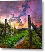 Country Garden Metal Print by Debra and Dave Vanderlaan