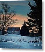 Countryside Winter Evening Metal Print by Joy Nichols