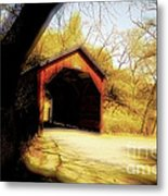 Covered Bridge 2 Metal Print by Cheryl Young