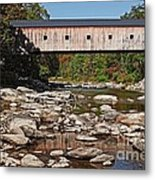 Covered Bridge Vermont Metal Print by Edward Fielding