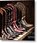 Cowgirl Boots Collection Metal Print by Olivier Le Queinec