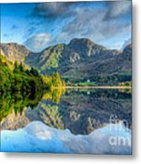 Craf Nant Lake Metal Print by Adrian Evans