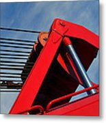 Crane - Photography By William Patrick And Sharon Cummings Metal Print by Sharon Cummings