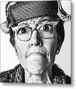 Cranky Old Lady Metal Print by Diane Diederich