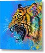 Crazy Tiger Metal Print by Olga Shvartsur