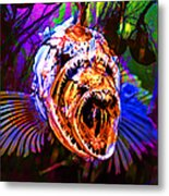 Creatures Of The Deep - Fear No Fish 5d24799 V2 Metal Print by Wingsdomain Art and Photography