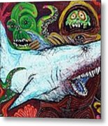 Creatures Of The Deep Metal Print by Laura Barbosa