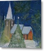 Crisp Holiday Night Metal Print by Louise Burkhardt