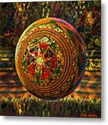 Croquet Crochet Ball Metal Print by Robin Moline
