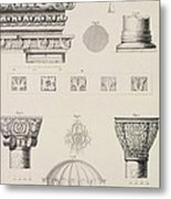 Cross Section And Architectural Details Of Kutciuk Aja Sophia The Church Of Sergius And Bacchus Metal Print by D Pulgher