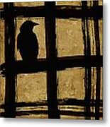 Crow And Golden Light Number 1 Metal Print by Carol Leigh