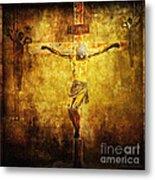 Crucified Via Dolorosa 12 Metal Print by Lianne Schneider