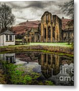 Crucis Abbey Metal Print by Adrian Evans