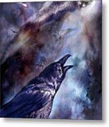 Cry Of The Raven Metal Print by Carol Cavalaris