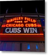 Cubs Win Metal Print by Steve Gadomski
