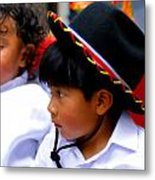 Cuenca Kids 214 Metal Print by Al Bourassa