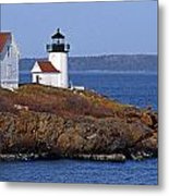 Curtis Island Lighthouse Metal Print by Skip Willits