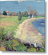 Curving Beach Metal Print by William James Glackens