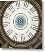 Custom House Tower Ceiling Boston Metal Print by Norman Pogson