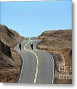 Cyclists In Marin Metal Print by Chris Selby