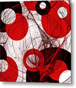 Cyclone Circle Abstract Metal Print by Andee Design