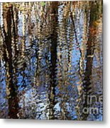 Cypress Reflection Nature Abstract Metal Print by Carol Groenen