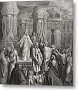 Cyrus Restoring The Vessels Of The Temple Metal Print by Gustave Dore