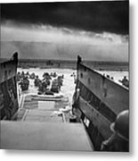 D-day Landing Metal Print by War Is Hell Store