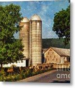 Dairy Farming Metal Print by Lois Bryan