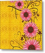Daisies Design - S01y Metal Print by Variance Collections